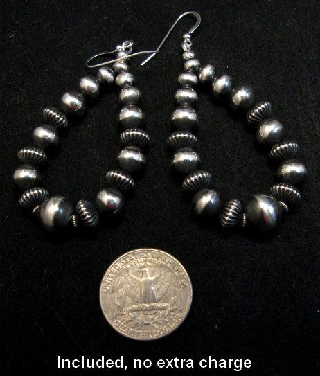 Image 8 of Darryl Becenti Navajo Native American Silver Squash Blossom Necklace Set