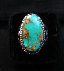 Albert Jake Navajo Native American Royston Turquoise Ring sz8-3/4
