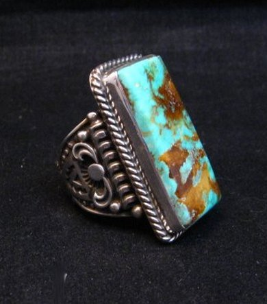 Image 2 of A++ Albert Jake Navajo Native American Royston Turquoise Ring sz9