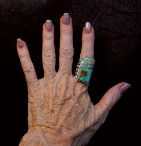 Image 3 of A++ Albert Jake Navajo Native American Royston Turquoise Ring sz9