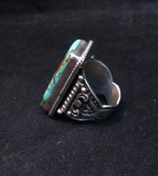 Image 4 of A++ Albert Jake Navajo Native American Royston Turquoise Ring sz9