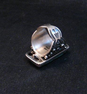Image 5 of A++ Albert Jake Navajo Native American Royston Turquoise Ring sz9