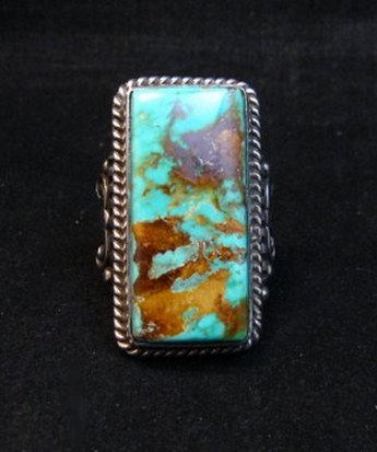 Image 6 of A++ Albert Jake Navajo Native American Royston Turquoise Ring sz9