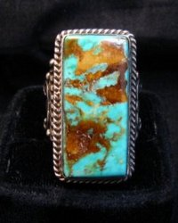 A++ Albert Jake Navajo Native American Royston Turquoise Ring sz9