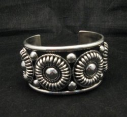 Thomas Charley Navajo Sterling Silver Concho Belt