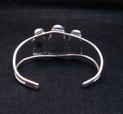 Image 4 of Zuni Indian Multi Maiden Inlay Silver Bracelet By Joyce Waseta