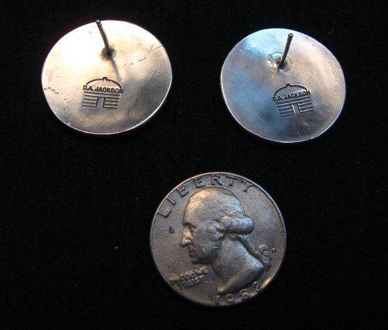 Image 2 of Dan Jackson Navajo Native American Rug Design Silver Earrings