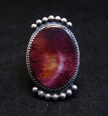 Image 0 of Navajo Purple Spiny Oyster Ring by Betty Joe sz7-3/4