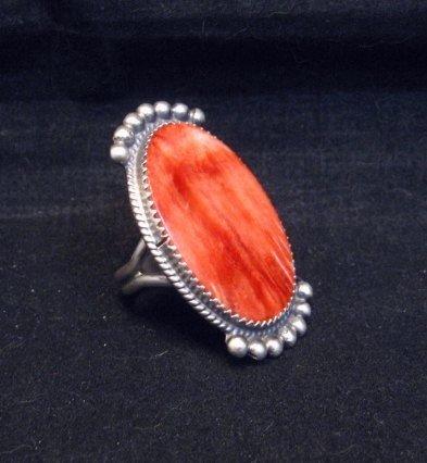 Image 2 of Betty Joe Navajo Orange Spiny Oyster Ring sz7-1/2