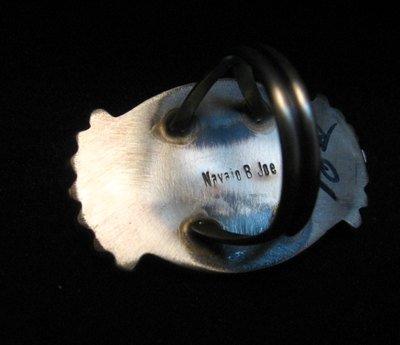Image 3 of Betty Joe Navajo Orange Spiny Oyster Ring sz7-1/2