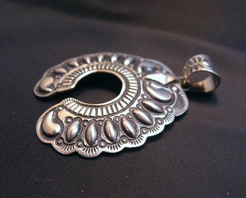 Image 1 of Navajo Native American Silver Naja Pendant, Darryl Becenti