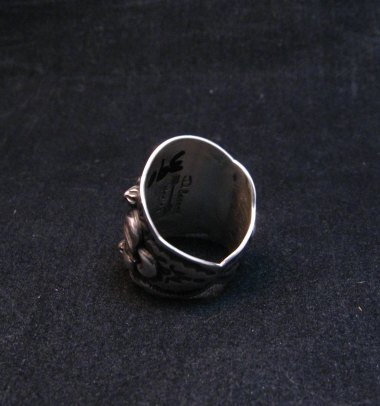Image 2 of Fancy Darryl Becenti Navajo Sleeping Beauty Turquoise Ring sz6