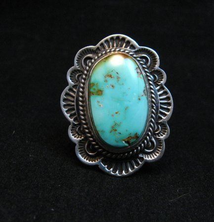 Image 0 of Native American Navajo Royston Turquoise Ring Sz7-1/4