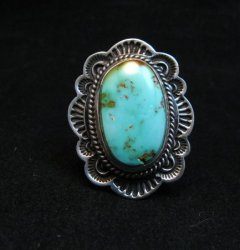 Native American Navajo Royston Turquoise Ring Sz7-1/4