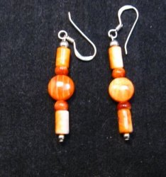 Navajo Spiny Oyster Bead Earrings, Everett & Mary Teller