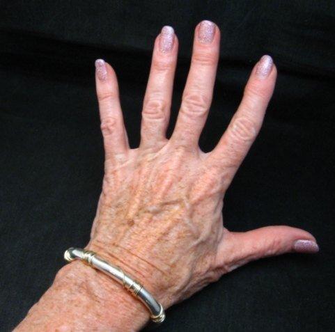 Image 5 of Navajo Orville Tsinnie & Co. 14K Gold Sterling Silver Wrap Wire Bracelet, Large