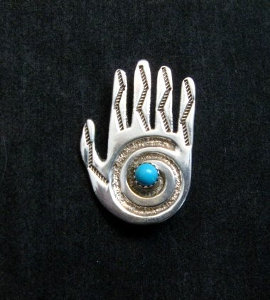 Image 0 of Allison Manuelito Navajo Healing Shaman's Hand Pin/Pendant