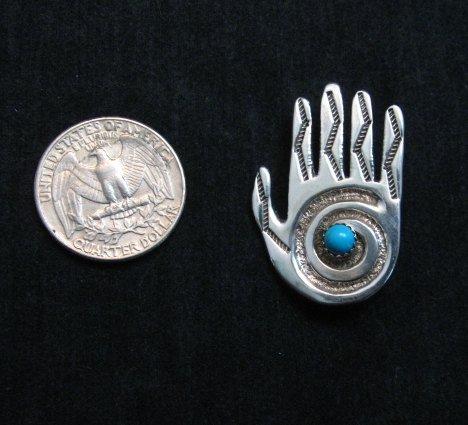 Image 1 of Allison Manuelito Navajo Healing Shaman's Hand Pin/Pendant
