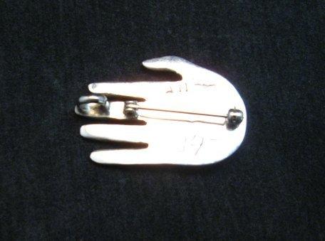 Image 2 of Allison Manuelito Navajo Healing Shaman's Hand Pin/Pendant