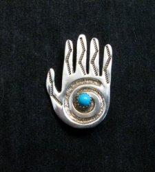 Allison Manuelito Navajo Healing Shaman's Hand Pin/Pendant