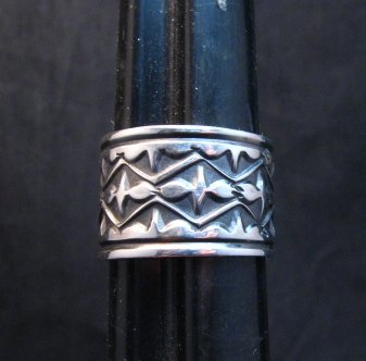 Image 3 of Navajo Sunshine Reeves Candelaria Turquoise Sterling Silver Ring sz9-1/2