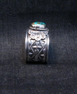 Image 5 of Navajo Sunshine Reeves Candelaria Turquoise Sterling Silver Ring sz9-1/2