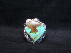 Big Native American Navajo Royston Turquoise Ring Sz7-1/2