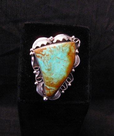 Image 0 of Big Native American Navajo Royston Turquoise Ring Sz7-3/4