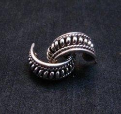 Native American Navajo Thomas Tom Charley Sterling Silver Hoop Earrings