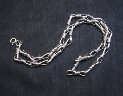 21-inch Sterling Silver Link Chain Necklace, Navajo Thomas & Colton Charley