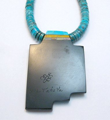 Image 3 of Mary Tafoya Santo Domingo Indian Multi-Stone Turquoise Necklace