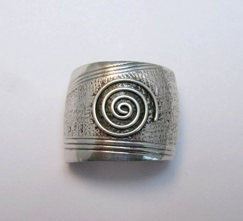 Image 0 of Native American Sterling Silver Ponytail Holder by Charles Trujillo