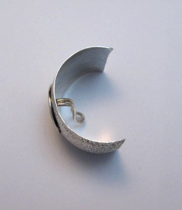 Image 4 of Native American Sterling Silver Ponytail Holder by Charles Trujillo