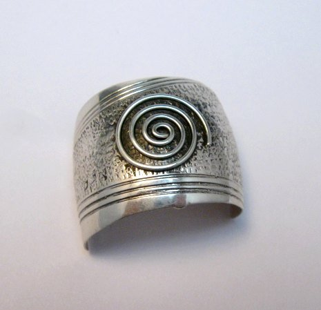 Image 5 of Native American Sterling Silver Ponytail Holder by Charles Trujillo