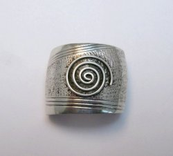 Native American Sterling Silver Ponytail Holder by Charles Trujillo