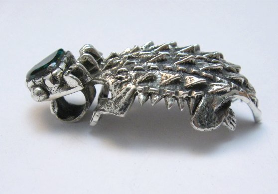 Image 5 of Philander Begay Navajo Horned Toad Turquoise Silver Pendant