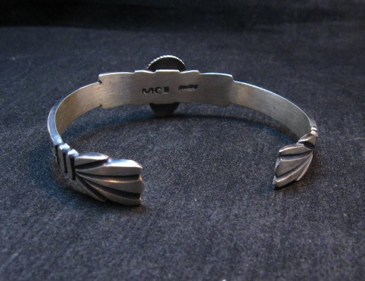 Image 5 of Navajo Native American Sterling Silver Turquoise Bracelet Martha Cayatine