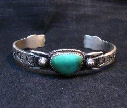 Navajo Old Style Turquoise Silver Bracelet Martha Cayatine