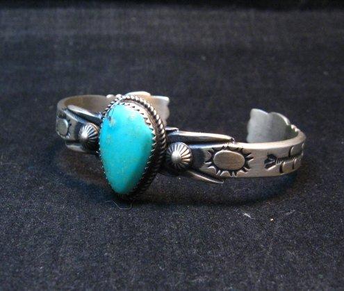Image 1 of Navajo Martha Cayatine Turquoise Sterling Silver Bracelet