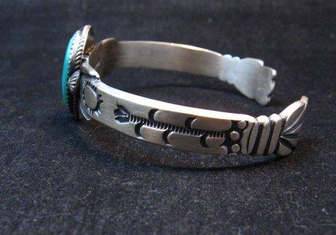 Image 2 of Navajo Martha Cayatine Turquoise Sterling Silver Bracelet