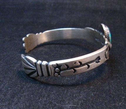 Image 3 of Navajo Martha Cayatine Turquoise Sterling Silver Bracelet