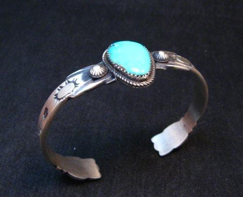 Image 5 of Navajo Martha Cayatine Turquoise Sterling Silver Bracelet