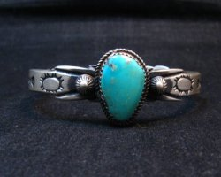 Navajo Martha Cayatine Turquoise Sterling Silver Bracelet