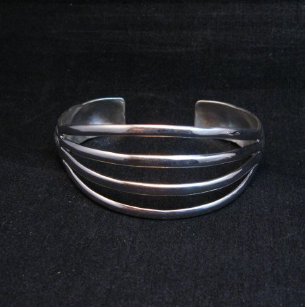 Image 4 of Navajo 4-Way Split Silver Ring sz9-1/2, Wilbert Benally