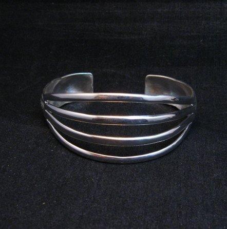 Image 4 of Navajo 4-Way Split Silver Ring sz9-1/2, Wilbert Benally