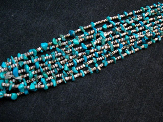Image 2 of Dead Pawn Native American Navajo Turquoise Jacla Necklace