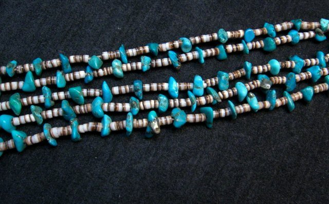 Image 3 of Dead Pawn Native American Navajo Turquoise Jacla Necklace
