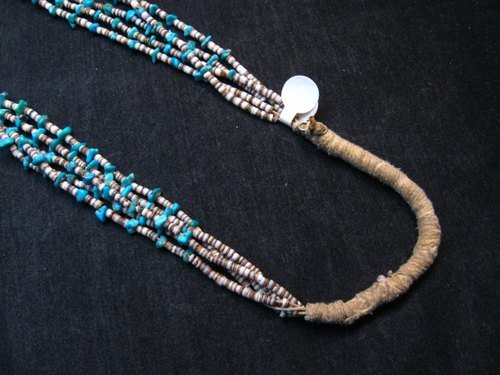 Image 5 of Dead Pawn Native American Navajo Turquoise Jacla Necklace