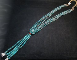 Dead Pawn Native American Navajo Turquoise Jacla Necklace