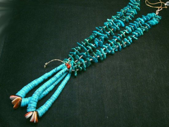Image 0 of Dead Pawn Native American Navajo Turquoise Nugget Jacla Necklace